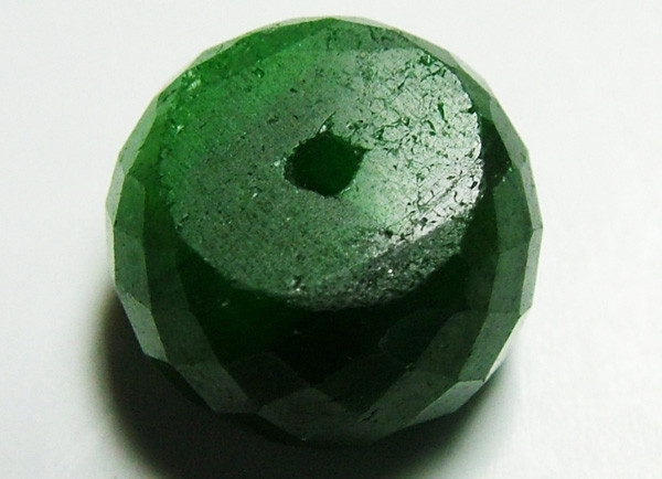 EMERALD BEAD FACETED 11 CTS AS-593