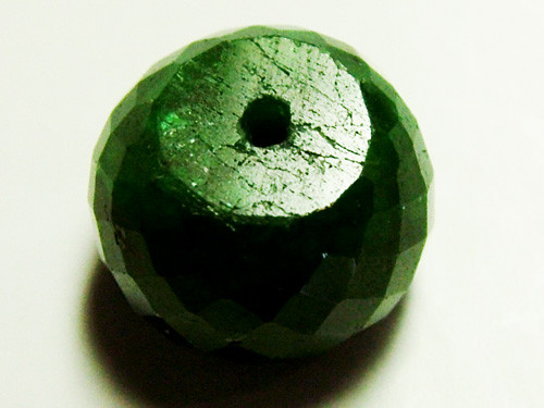 EMERALD BEAD FACETED 13CTS AS-594