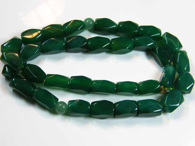 STRAND LARGE AFGHANISTAN  GREEN JADE BEADS 425 CTS  ST 53
