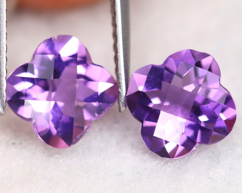 Amethyst 2.65Ct VS Pixalated Cut Natural Bolivian Purple Amethyst A1605