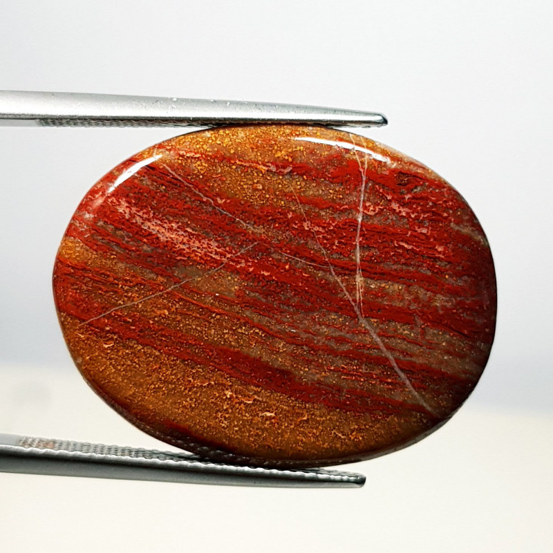 32.75 ct Natural Red Jasper Oval Cabochon  Gemstone