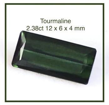 Pretty Flawless Quality Bottle Green Tourmaline - Brazil BB1