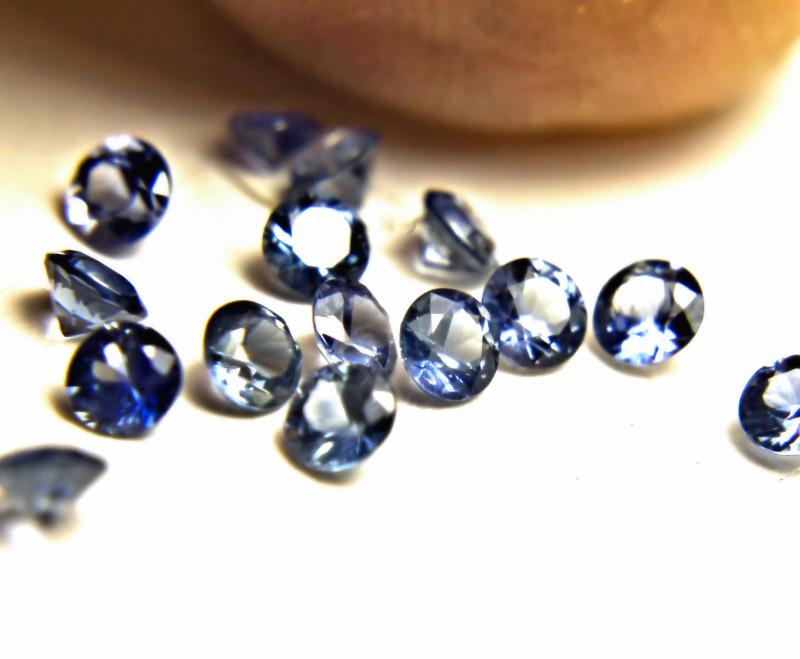 1.84 Tcw. Blue Sapphire Accents - 3.0mm - 14pcs.