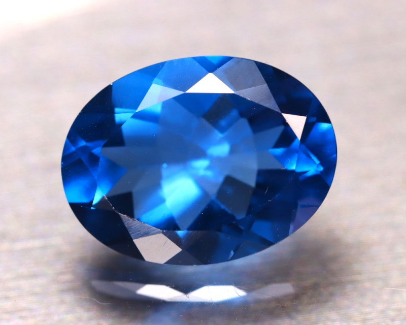 Fluorite 9.87Ct Natural IF Vivid Bule Color Change Fluorit E2107/A49
