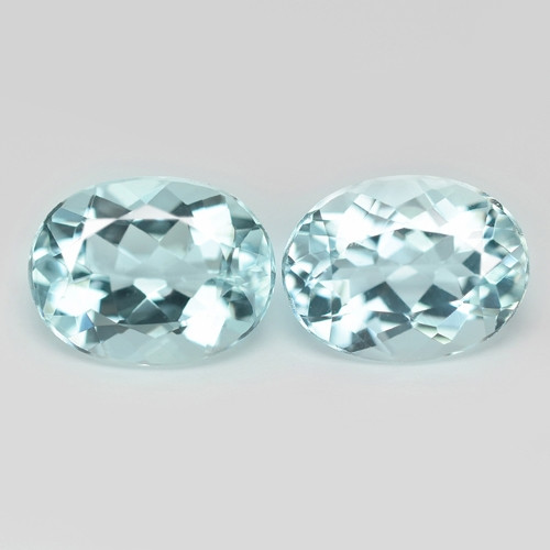 3.44 Cts 2 pcs Un Heated  Sky Blue Color Natural Aquamarine Loose Gemstone