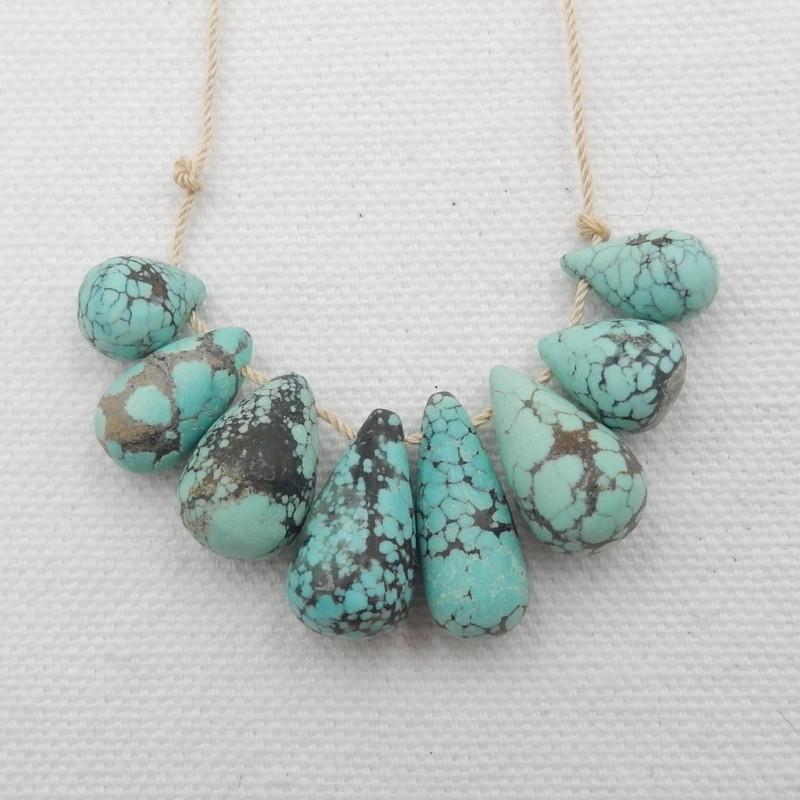 59.5CTS Natural Turquoise Strand ,Handmade Gemstone ,Turquoise Stone G653