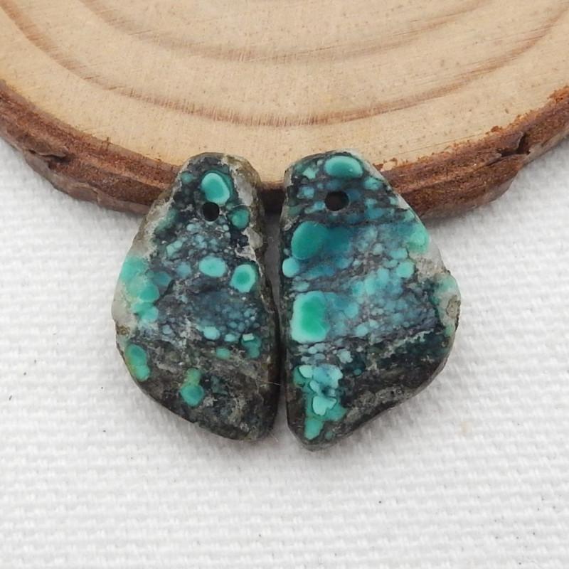 15.5cts Turquoise Earrings,Handmade Gemstone ,Turquoise Earrings  G711