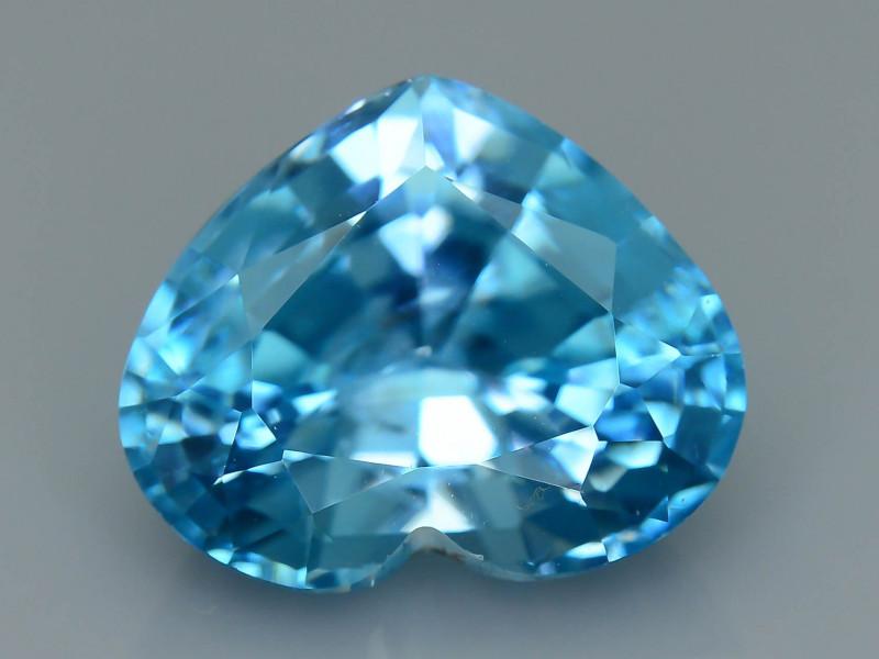AAA Brilliance 6.43 ct Blue Zircon Cambodia SKU.11