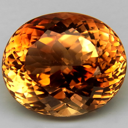 18.45 ct.100% Natural Earth Mined Top Quality Topaz Orangey Brown Brazil