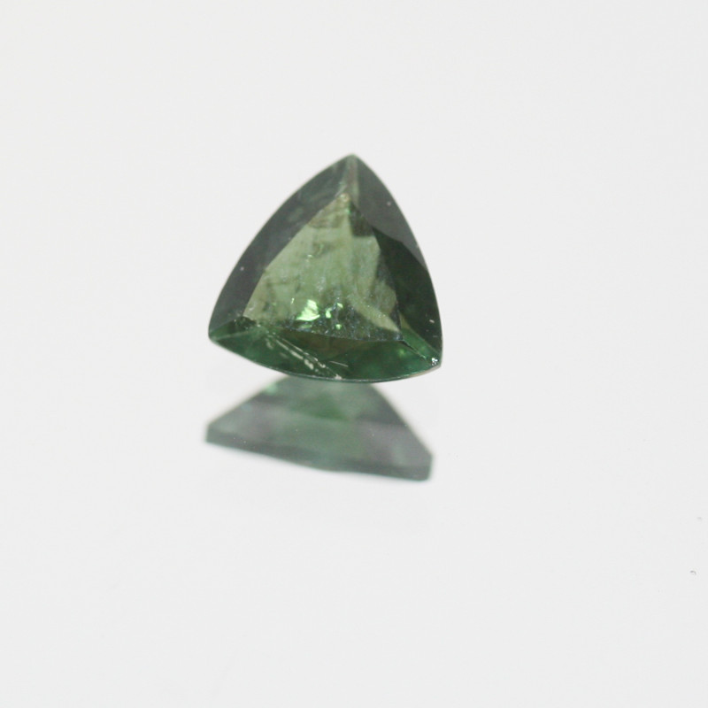 Green Tourmaline Faceted Square 6mm.-(0.6ct).- SKU 208