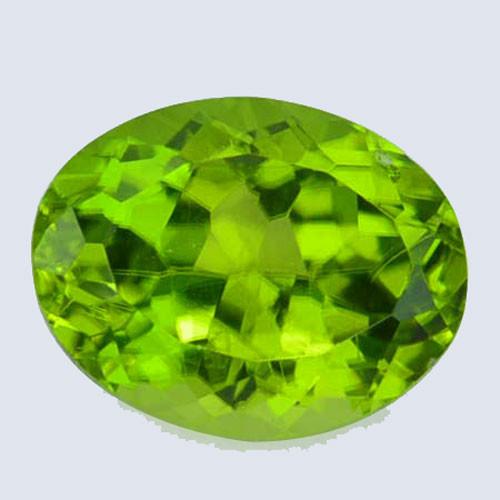 Amaging!!! 2.28 Cts Natural Peridot Stunning Green Oval Pakistan