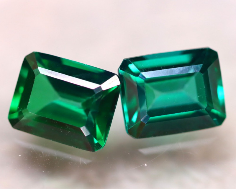 Green Topaz 8.00Ct 2Pcs Natural VVS Green Topaz E2510/A48