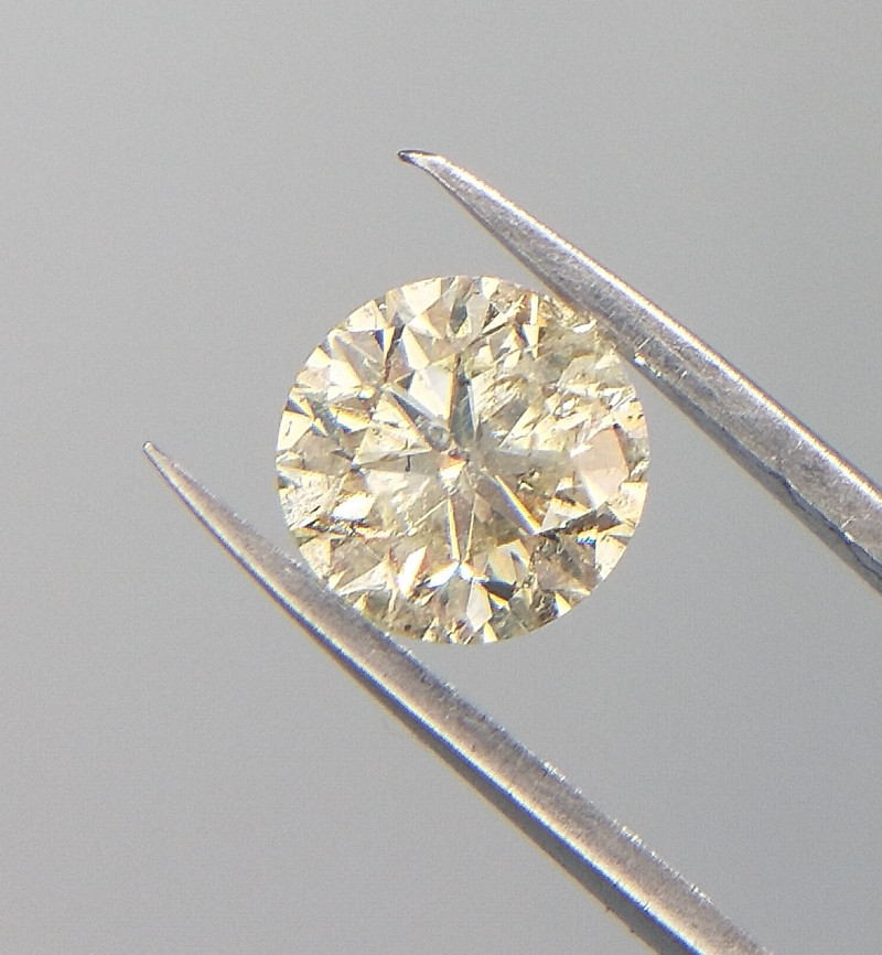 0.42 cts , Yellow Natural Diamond For Jewelry , Loose Diamond , WR1023