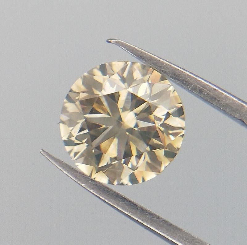 0.51 cts , Light Yellow Diamond , Rare Diamond , WR1043