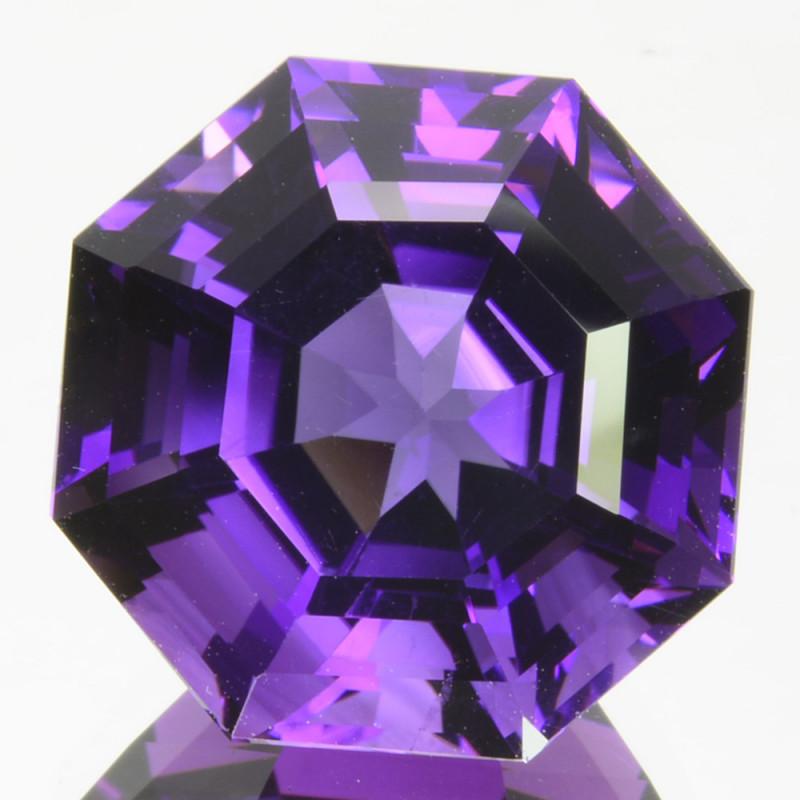 Genuine!! 14.01 Cts Natural Purple Amethyst Fancy Cut Gem Bolivia