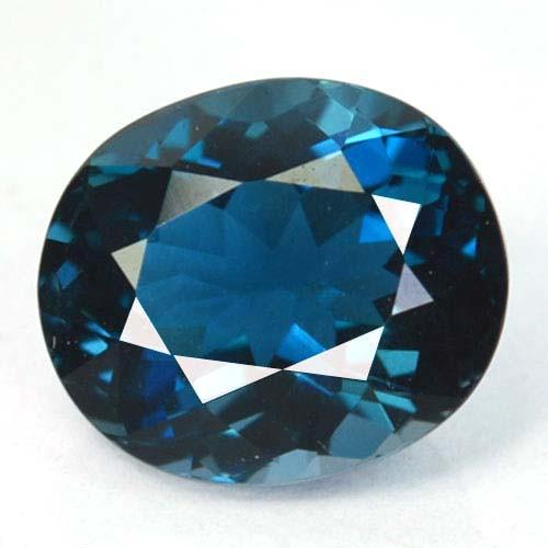 ~GORGEOUS~ 2.14 Cts Natural London Blue Topaz Oval Cut Brazil