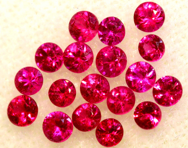 0.81 CTS NATURAL RUBY FACETED STONE PARCEL PG-3384