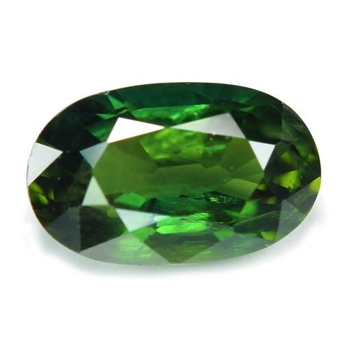1.28 Cts Amazing Rare Natural Fancy Green Ceylon Sapphire Loose Gemstone