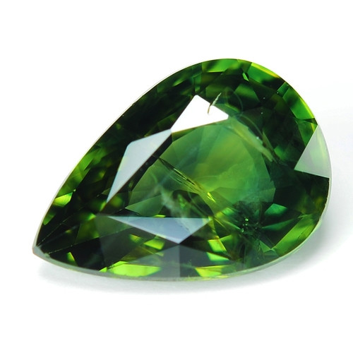 1.57 Cts Amazing Rare Natural Fancy Green Party Sapphire Loose Gemstone