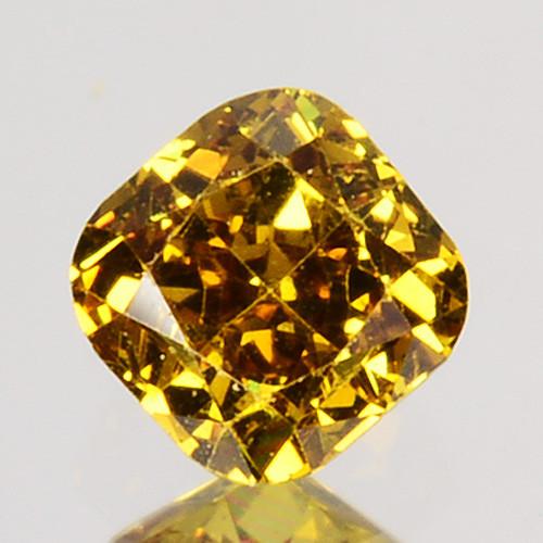 Ravishing!! 0.17 Cts Natural Untreated Diamond Fancy Yellow Cushion Cut Afr
