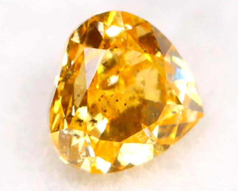 Intense Yellow Diamond 0.15Ct Untreated Genuine Fancy Diamond AT0042