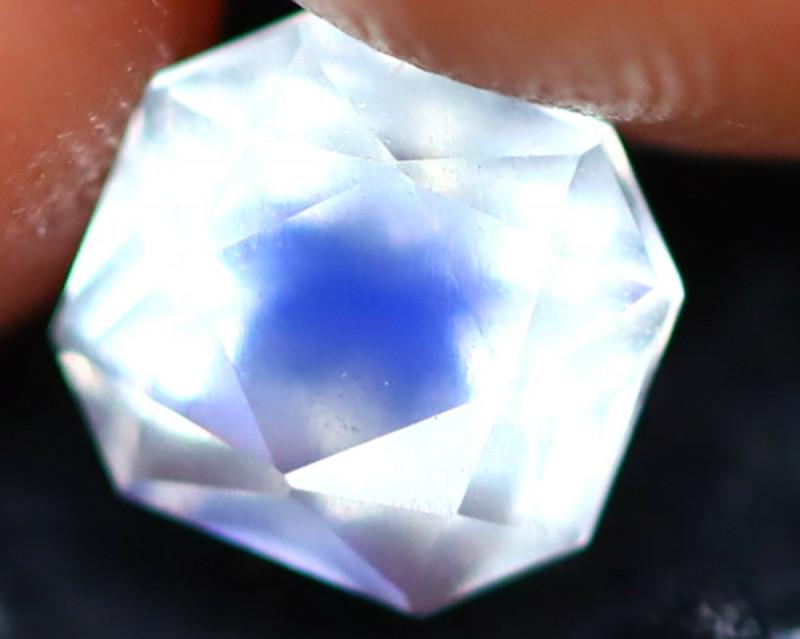 Moonstone 0.70Ct Top AAA Sri Lanka Rainbow Blue Moonstone E0225