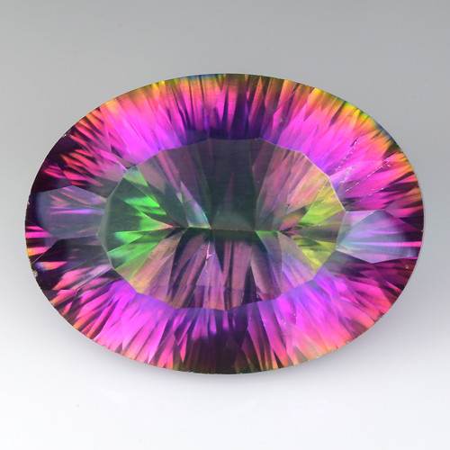 15.58 Cts Rainbow Mystic Quarts Top Color Gemstone MT19