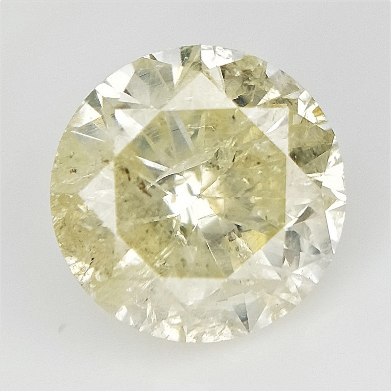 0.91 cts , 100 % Natural Yellow Diamond , Diamond For Jewelry , WR1107