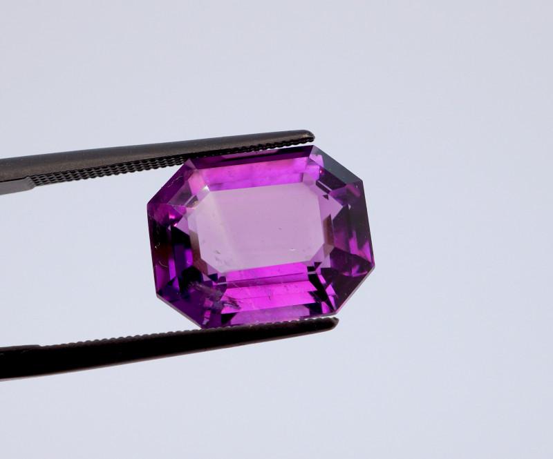 8.14 CT FREE SHIPPING! Custom Fancy Cut Purple Amethyst (Uruguay)