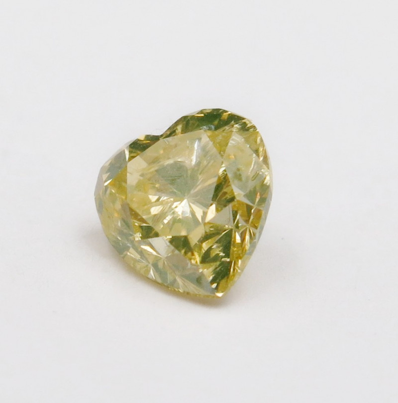 0.55ct Natural Fancy brownish Greenish Yellow Diamond GIA certified