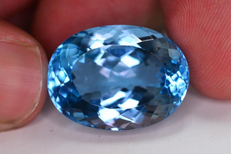 Stunning 32.15 Ct Natural Blue Topaz Gemstone