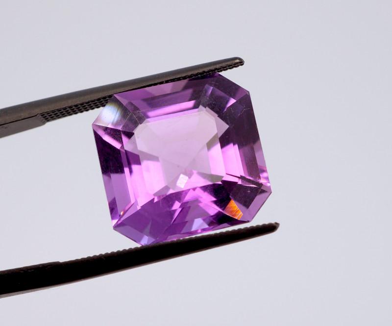9.82 CT FREE SHIPPING! Custom Fancy Cut Purple Amethyst (Uruguay)