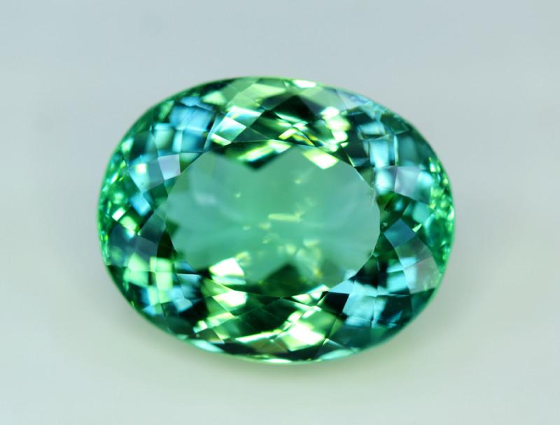 Kunzite, 35.70 Carats Amazing Lush Green Hiddenite Kunzite Gemstone