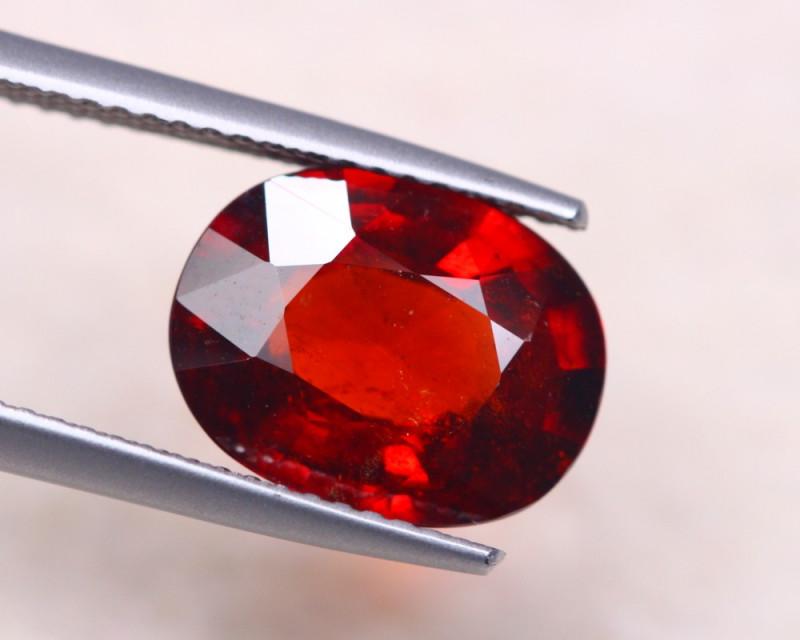 5.20ct Natural Orange Red Garnet Oval Cut Lot D394