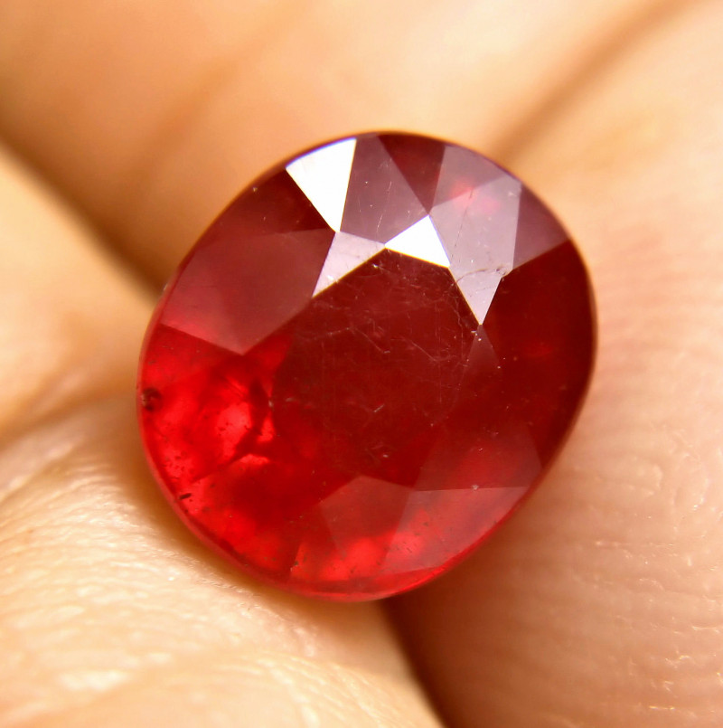 6.23 Fiery, Top Red Ruby - Gorgeous