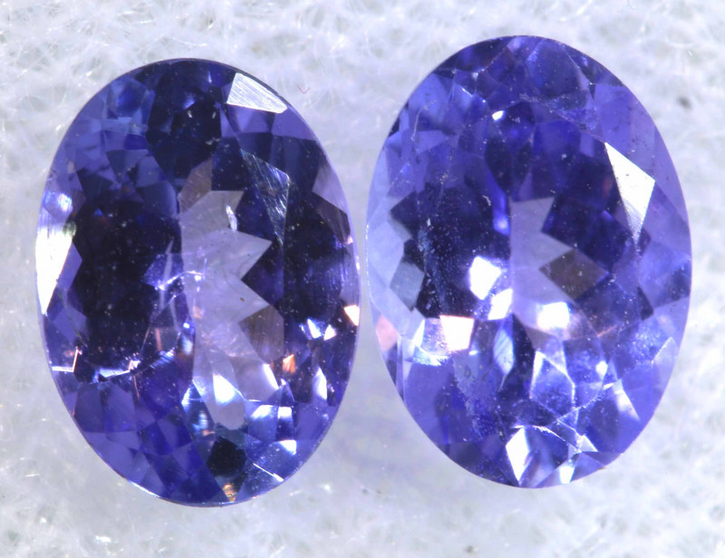 1.64CTS  TANZANITE  FACETED  STONE MATCHED PAIR  PG-3469