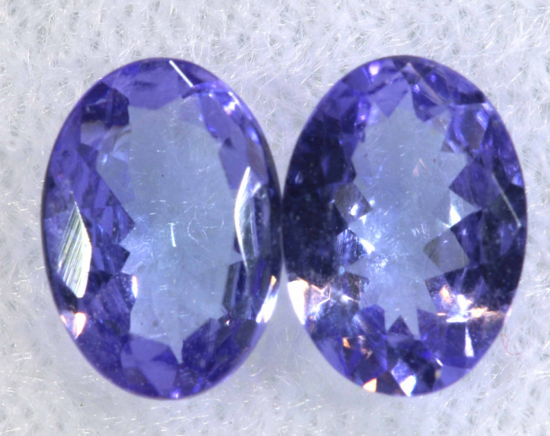 1.42CTS  TANZANITE  FACETED  STONE MATCHED PAIR  PG-3479