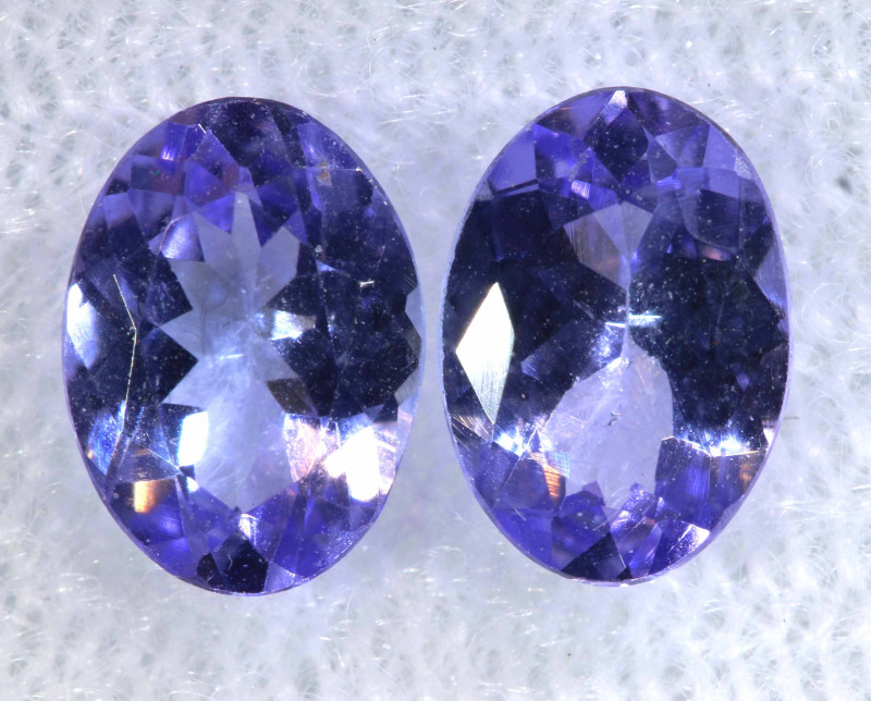 1.51CTS  TANZANITE  FACETED  STONE MATCHED PAIR  PG-3486