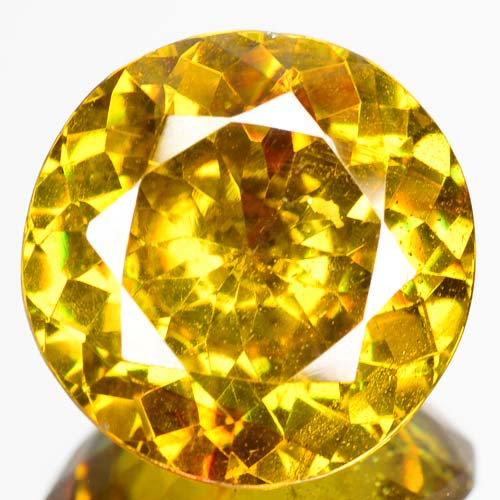RARE!! 10.45 Cts Unheated Natural Yellowish Green Sphalerite Round Cut Spai