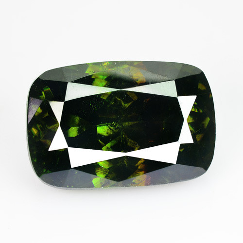 ~ULTRA RARE~ 10.28 Cts Natural Sparkling Green Sphalerite Cushion Cut Bulga