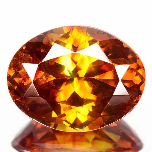 ~RAREST~ 10.30 Cts Natural Sphalerite Sunset Orange Oval Cut Spain