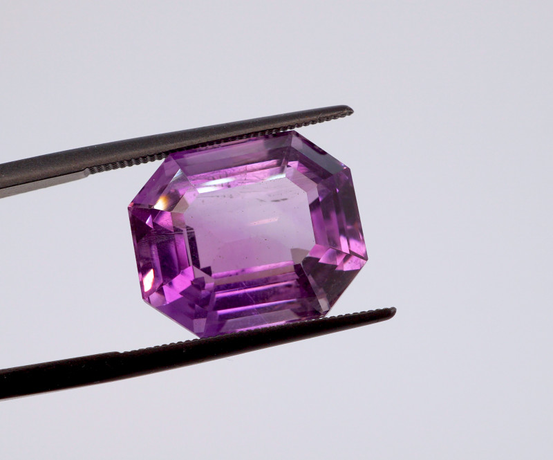 12.03 CT FREE SHIPPING! Custom Fancy Cut Purple Amethyst (Uruguay)