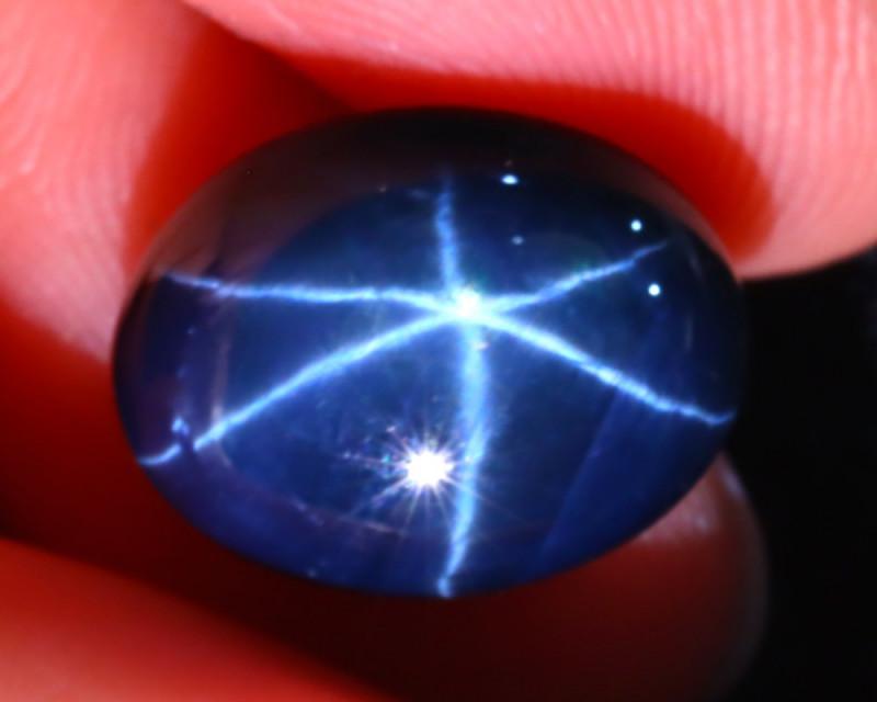 Star Sapphire 10.17Ct Natural 6 Rays Blue Star Sapphire E0618/A52