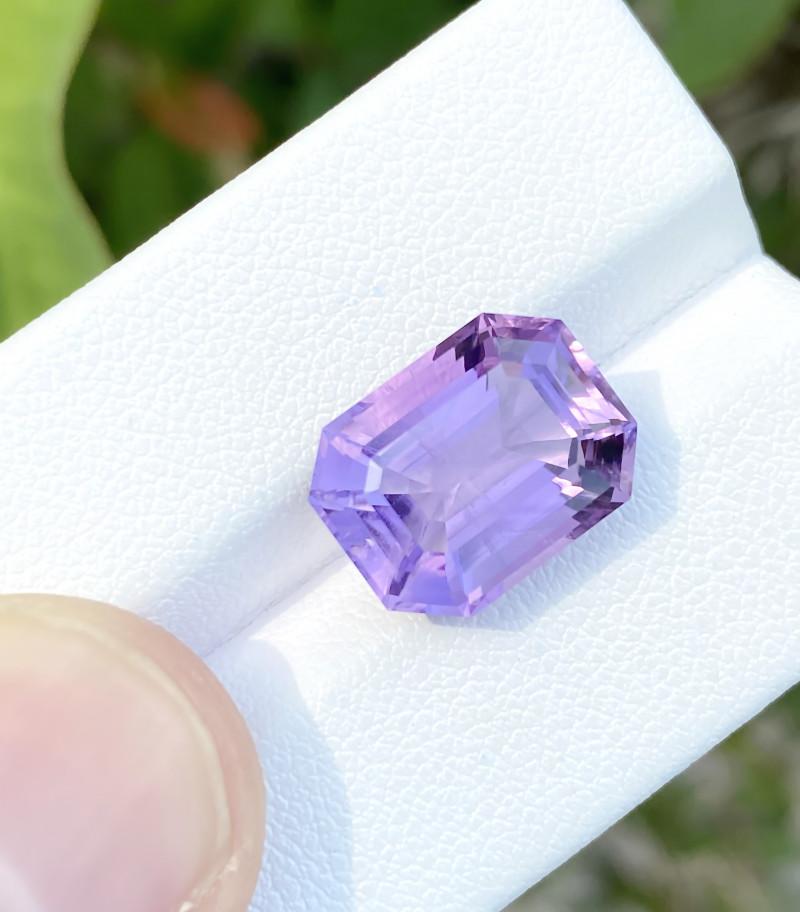 7.10 Ct Natural Purplish Transparent Amethyst Gemstone