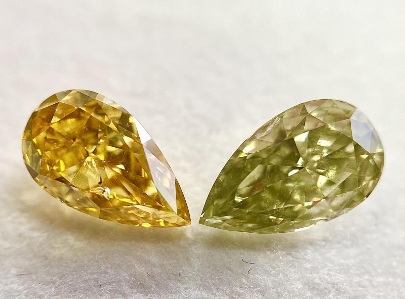 GIA Certified Pear 2.19 Carat Natural Fancy Intense Orange Yellow Diamond a