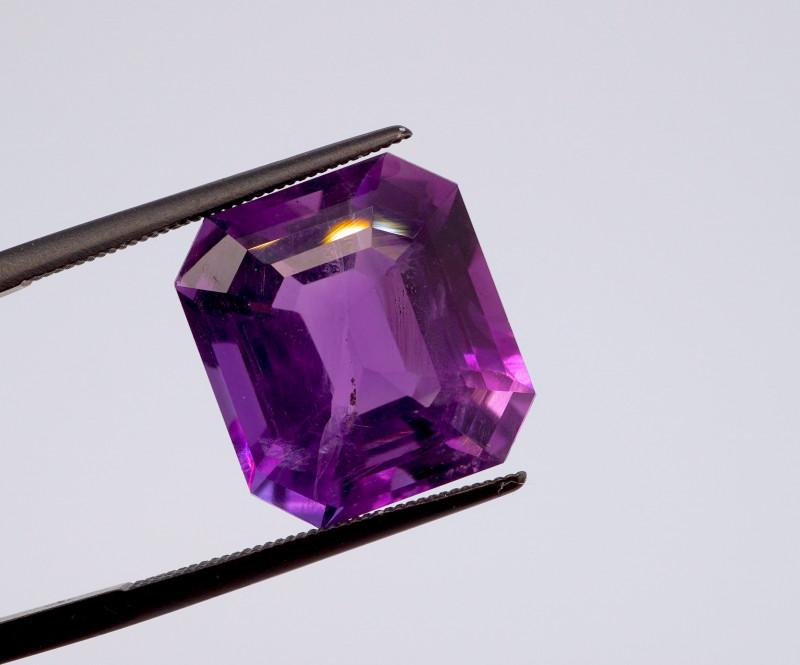11.85 CT FREE SHIPPING! Custom Fancy Cut Purple Amethyst (Uruguay)