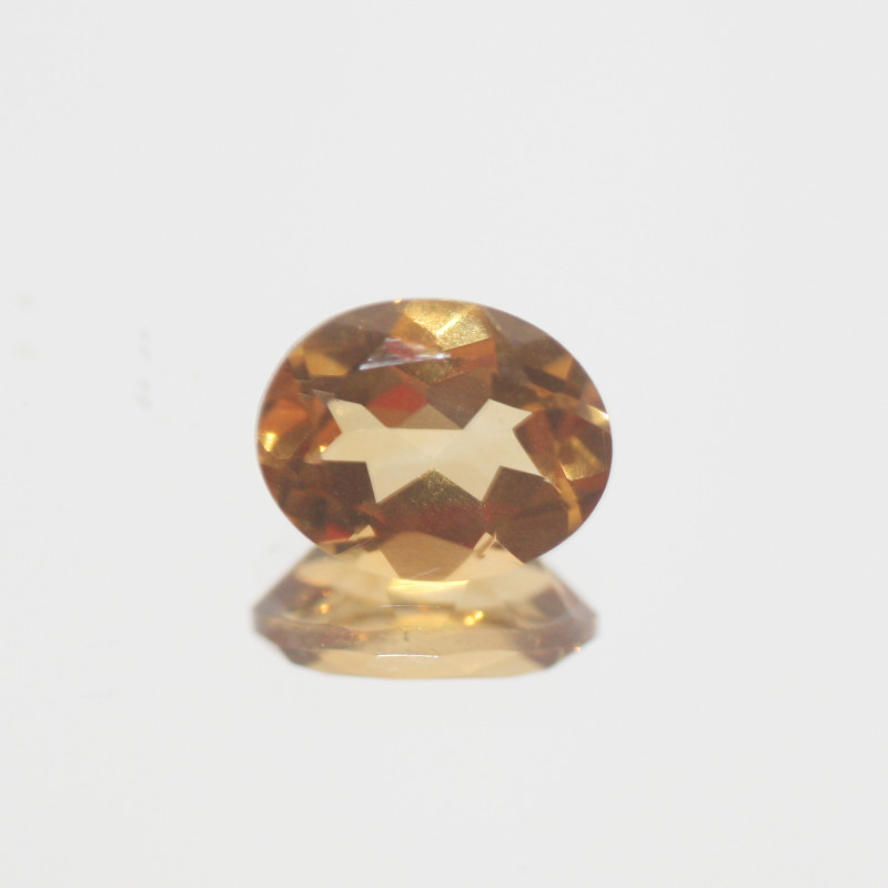 2.35Ct  Top Color Citrine Faceted Oval 10x8mm.-(SKU356)