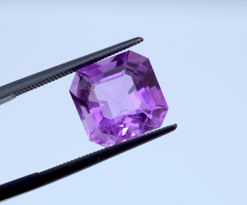 5.73 CT FREE SHIPPING! Custom Fancy Cut Purple Amethyst (Uruguay)
