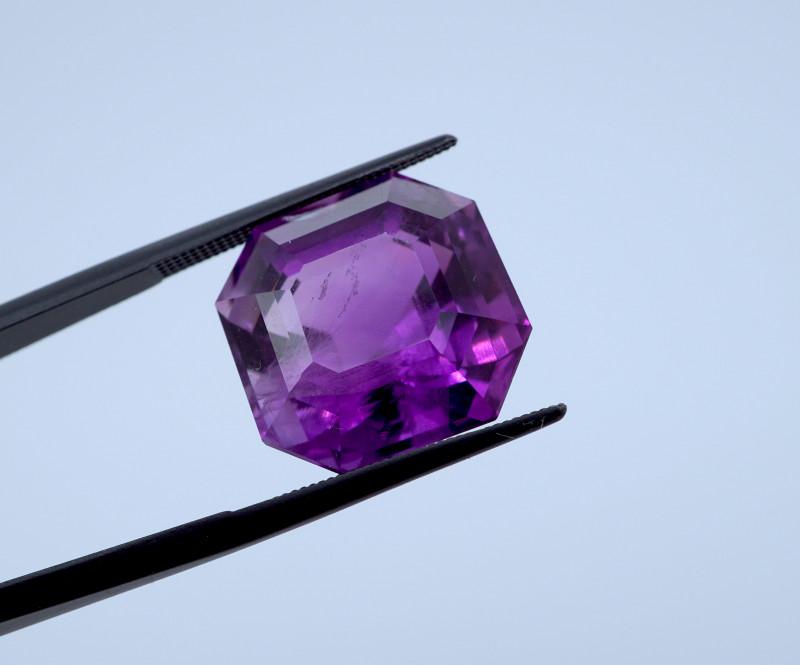 16.19 CT FREE SHIPPING! Custom Fancy Cut Purple Amethyst (Uruguay)