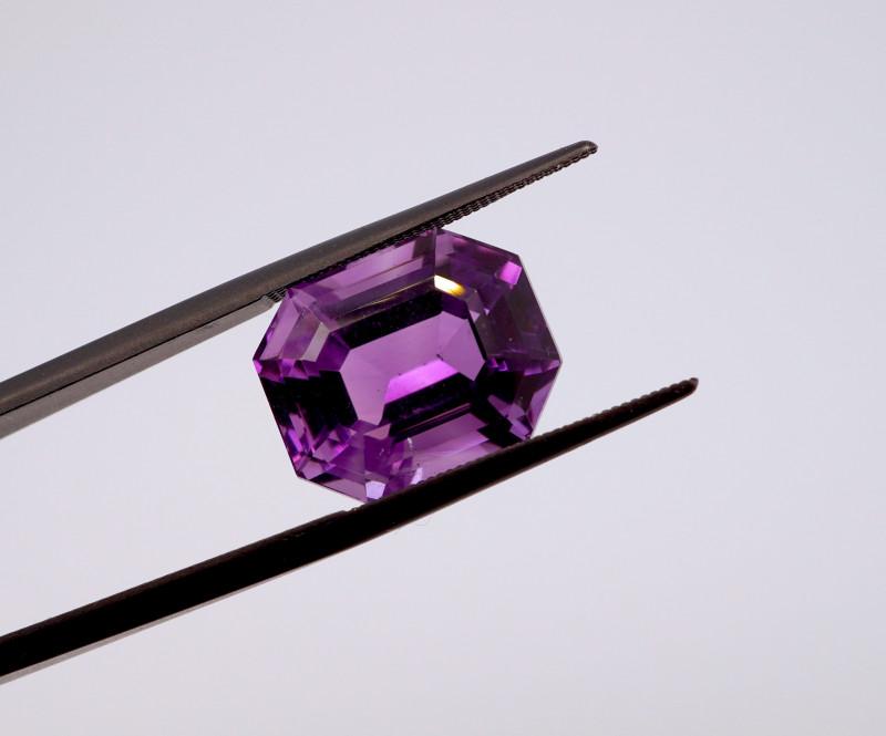 11.08 CT FREE SHIPPING! Custom Fancy Cut Purple Amethyst (Uruguay)